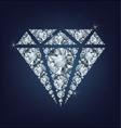 Shiny bright diamond symbol made a lot of diamonds vector image vector image