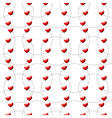 Red heart dotted vector