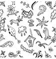 seamless pattern doodling design Kids Doodle vector image