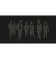 business people background vector image
