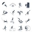 Extreme Sports Icons Black vector image