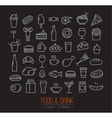 Flat food icons black vector image