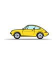 hand-drawn yellow car vector image