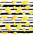 lemon citrus seamless watercolor natural pattern vector image