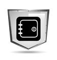 Symbol box safety shield steel icon vector image