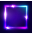 Neon sign Square frame with glowing and light vector image