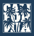 california tee design with palms vector image