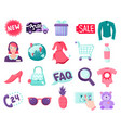 shop online items collection vector image