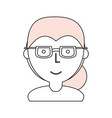 woman with glasses cartoon vector image