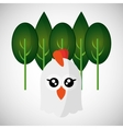 Animal design chicken icon Isolated vector image