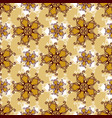 gold lace seamless pattern with jewelry flower vector image