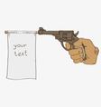 Gun with a retractable flag vector image