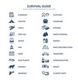 survival guide icons vector image