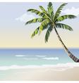 Vintage beautiful Sunset Seaside card vector image