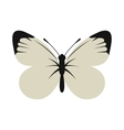 White butterfly icon flat style vector image
