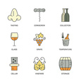 Winery Elements vector image
