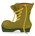 Worn travel shoe vector image