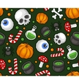 Halloween Seamless Pattern Background with Spider vector image vector image