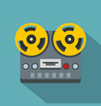 vintage reel to reel tape recorder deck icon vector image
