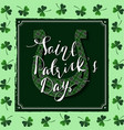 happy st patricks day lucky horseshoe vector image
