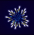 festive colorfu firework design vector image