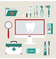 desktop dentist vector image vector image