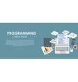 Programming Coding Concept Flat Background vector image