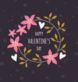 Decorative Floral Frame with Text - Happy vector image