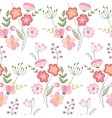 Seamless pattern with stylized cute flowers vector image