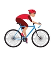 person riding bike vector image