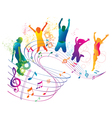Active jumping and dancing people vector image