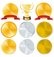 awards and golden vector image