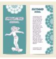 Cards template for skateboard school studio center vector image