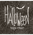 design with hand drawn halloween Vintage ba vector image