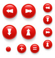 directional buttons red vector image