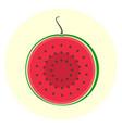 half slice red watermelon icon vector image