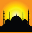 istanbul mosque silhouette part two vector image