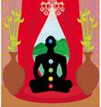 Men silhouette - chakra points vector image