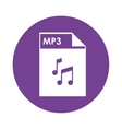 mp3 file icon vector image