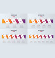 set of paper style infographic timeline designs vector image