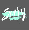 sorry in calligraphy brush vector image