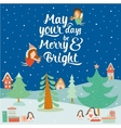 Stylish and bright Merry Christmas vector image