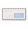 White avia DL envelope with window for address vector image