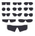 Glasses template isolated vector image