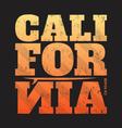 california tee print with surfboard vector image