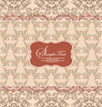 Beautiful vintage floral card vector image vector image
