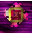 Wooden color puzzle background  EPS10 vector image