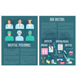 hospital medical doctor personnel posters vector image