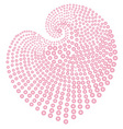 heart of pink beads vector image