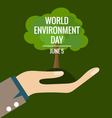 World environment day concept Hands with tree vector image